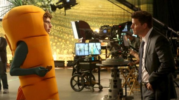 """""""Bones"""" Season 9, episode 18 ventures into new territory when Booth interviews vegetables in """"The Carrot in the Kudzu."""""""