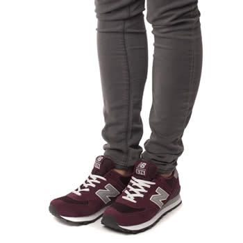 Acheter new balance 574 burgundy womens 6209a81e27