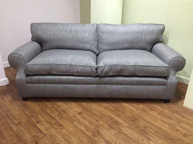 limerick large sofa with back cushions in leyton heron - Large Sofas