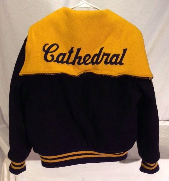 Vtg. Cathedral High School Wool Coat / Womens S / Indianapolis / Zip Cape Hood picclick.com