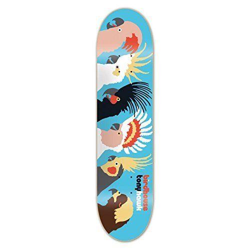 Birdhouse Skateboards Tony Hawk Birds Skateboard Deck, 8: Professional quality skateboard deck 7 ply hard rock Canadian maple wood Covered…