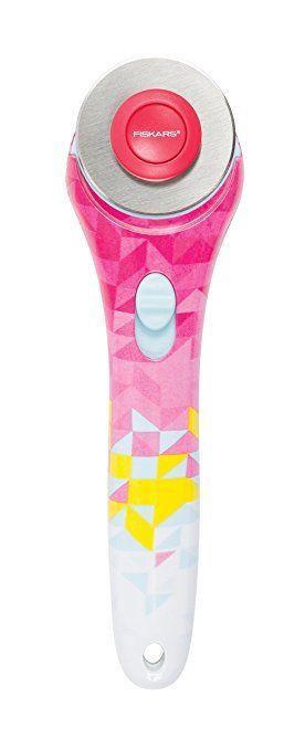 Fiskars 45mm Stick Rotary Cutter, Pink Triangle