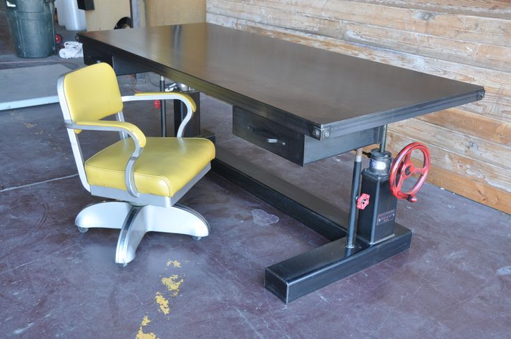 Crank table by vintage industrial furniture in phoenix az for Furniture 85050