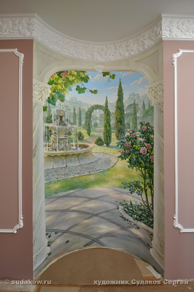 Custom mural in the Neo-Classical style.  #handpaintedmural