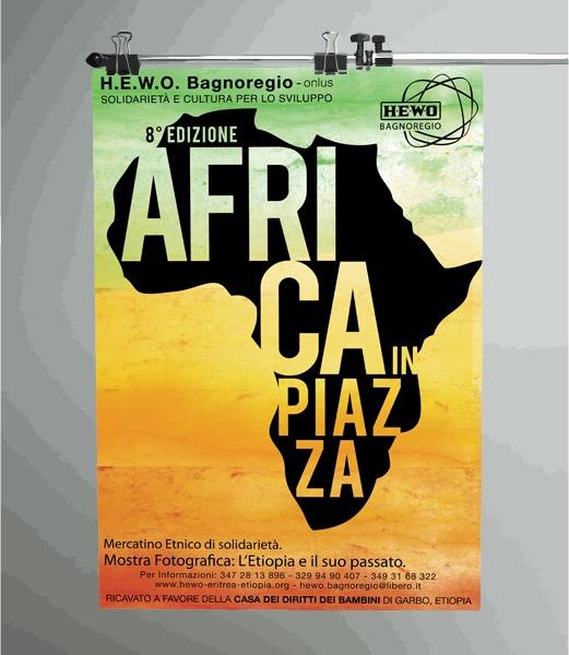 H.E.W.O. - Africa in Piazza - manifesto