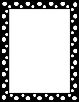 Cute polka dot page frames or labels