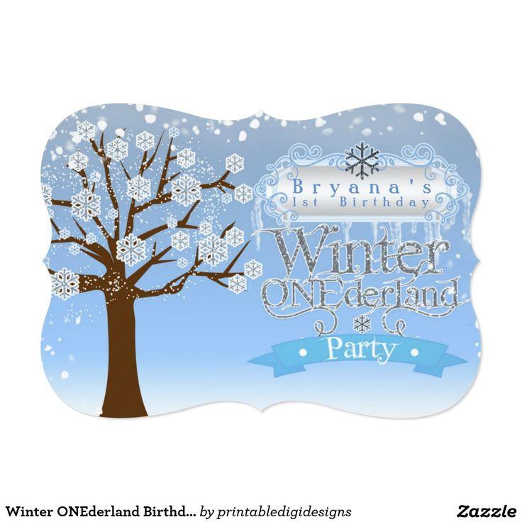 97 best winter wonderland party invitations images on Pinterest ...