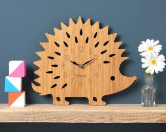 Large Modern Geometric Clock Modern Wall Clock by OwlandOtter