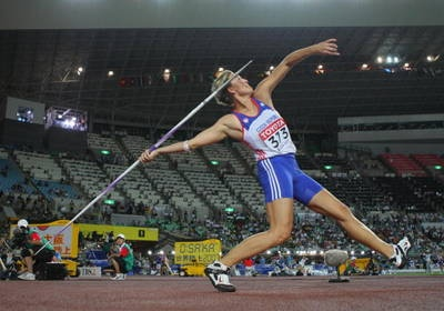 World record holder. Coached by the men's world record holder Jan Zelezny,  hmmm
