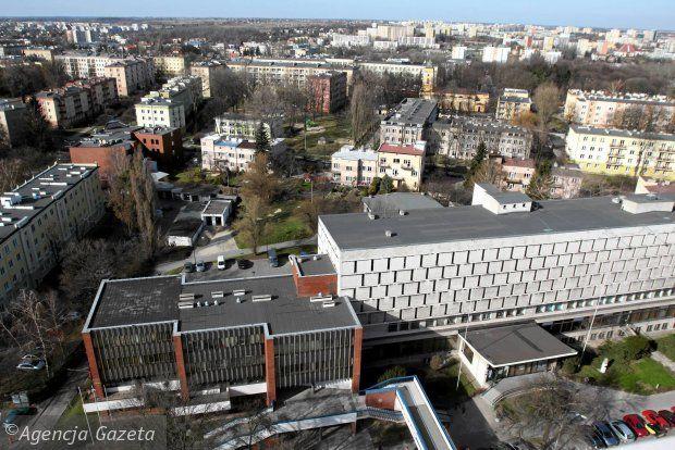 Widok na Lublin z dachu rektoratu UMCS, Biblioteka Główna UMCS, marzec 2014 fot. J. Orzechowski