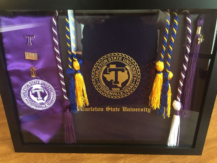 Tarleton State University graduation shadow box