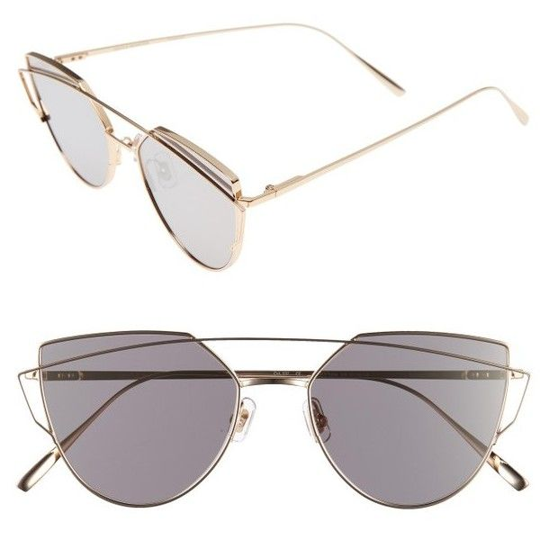 Women's Gentle Monster Love Punch 55Mm Titanium Aviator Sunglasses (£225) ❤ liked on Polyvore featuring accessories, eyewear, sunglasses, gold mirror, mirror aviators, titanium eyewear, mirrored sunglasses, aviator sunglasses and aviator style sunglasses