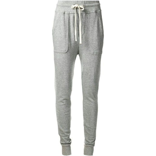 James Perse Slouchy Sweat Pants ($108) found on Polyvore featuring activewear, activewear pants, pants, bottoms, jeans, sport, sweatpants, grey, grey sweat pants and gray sweat pants