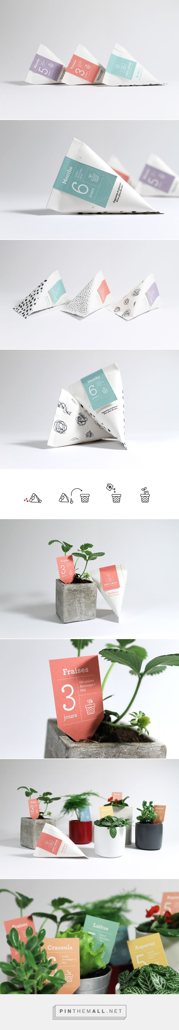 Anticrise seeds for indoor gardening designed by Julie Ferrieux. Pin curated by #SFields99 #packaging #design