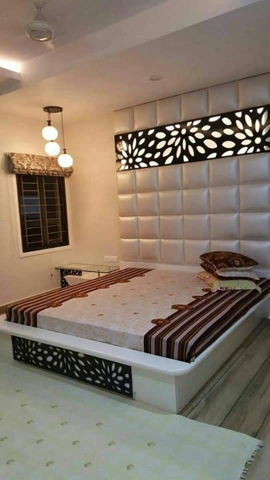 Bad Interior Design Images #Bad full wall white leather and black CNC cutting beautiful bed design you  wa nu0027t see more design open my Pinterest profile and follow me on Pinterest  ...