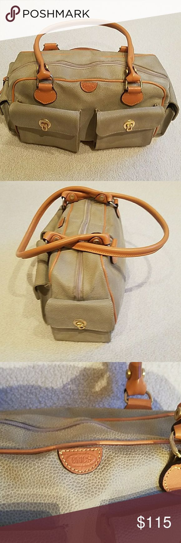 Bric's handbag Camel and tan pebble leather handbag brics Bags Shoulder Bags