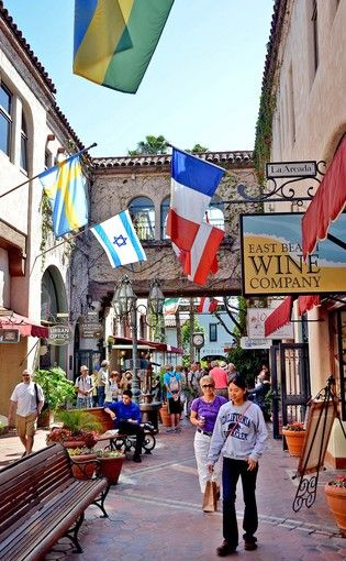 Arcada shopping area along State Street  in Santa Barbara as featured in the LA Times.