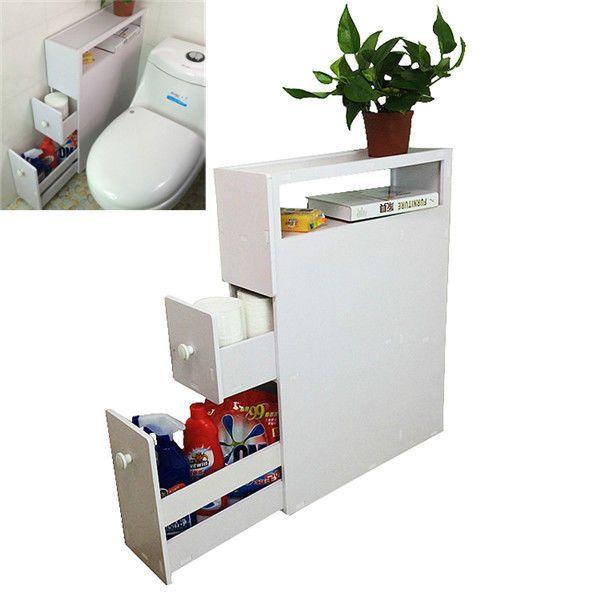 New Movable Bathroom Storage Holder Furniture Bath Floor Cabinet Home Organizer