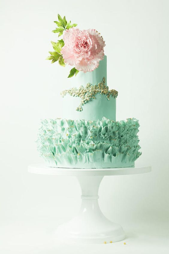ガーリー&ロマンティックなミントグリーンのケーキ♡ガーデンスタイルの結婚式にピッタリ♡グリーンのウェディングケーキまとめ一覧♡