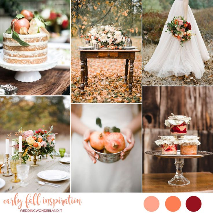 early fall wedding inspiration | matrimonio di inizio autunno in arancione, pesca e marsala