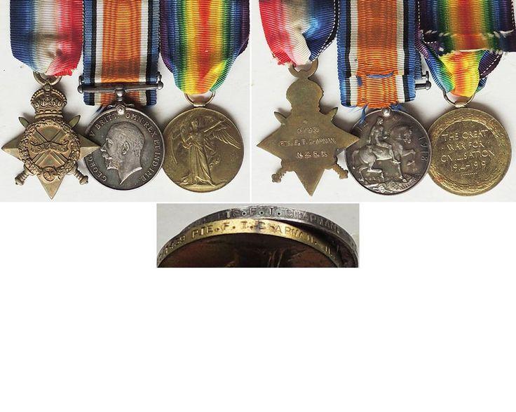 CM0064. 1914/15 STAR TRIO - 10/1439 Chapman, KIA Helles 7/5/1915