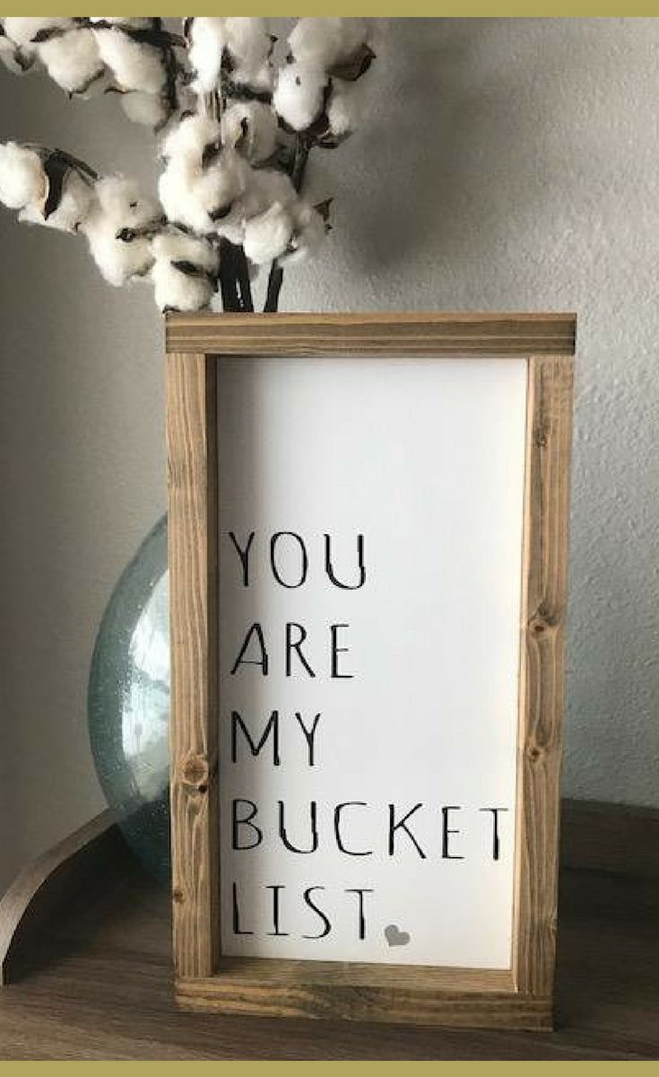 How perfect is this? You Are My Bucket List – Farmhouse Style Framed Wood Sign – Home Decor, Farmhouse Signs, Rustic Signs, Farmhouse Decor, Rustic De…
