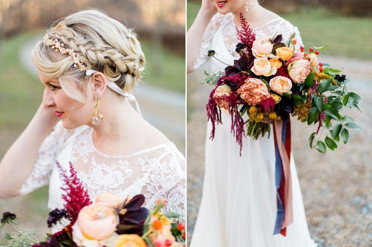 Fall Hued Bridal Bouquet