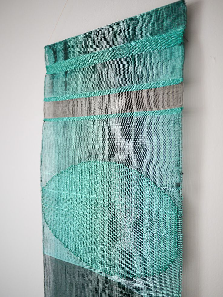 Handwoven wall hanging by Justine Ashbee for Native Line