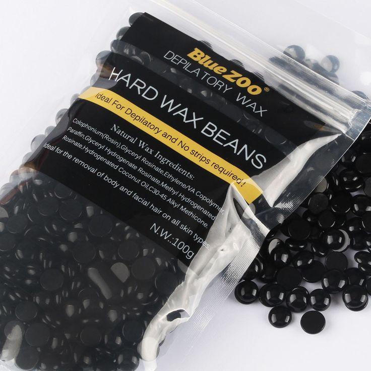 Meilleure Offre New BlueZOO Noir Cheveux crème dépilatoire Épilation haricots Aucune Bande Dépilatoire Chaude Film Dur Cire Granulés Épilation Bikini