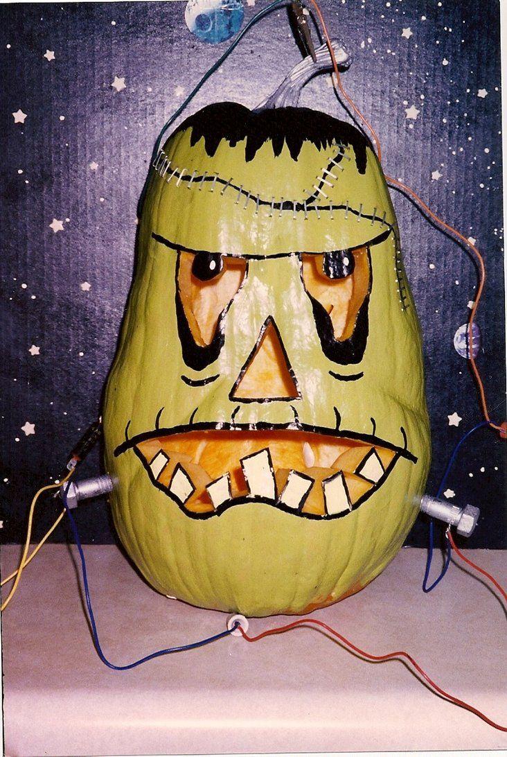 Frankenstein Pumpkin by thepapierboy on deviantART