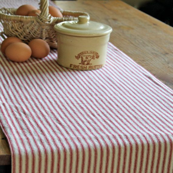 Farmhouse table runner country table runner by LittleBluNest, $18.00