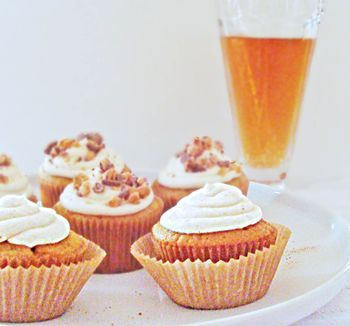 cream soda cupcakes with brownbutter icing
