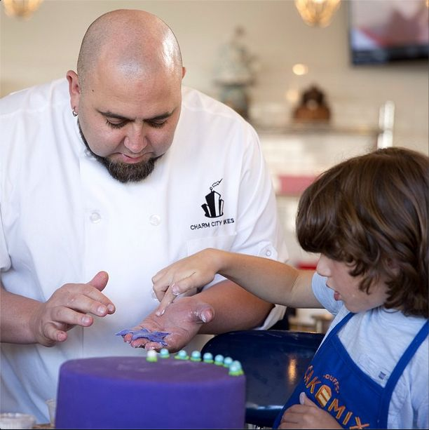"""We asked Duff Goldman, do you prefer decorating with #icing or #fondant? Duff said: """"Fondant, for sure. It allows for so much creativity, and is very forgiving to big clumsy hands like mine!"""" #DuffDay"""