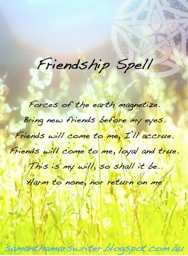This is a good spell to cast if you move into a new place and don't know anybody. It is very important that you ground yourself before perfo...