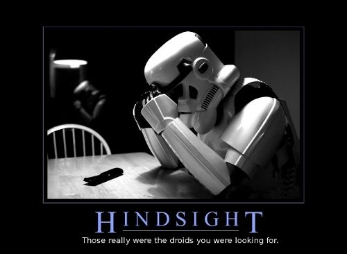 :) The power of hindsight !