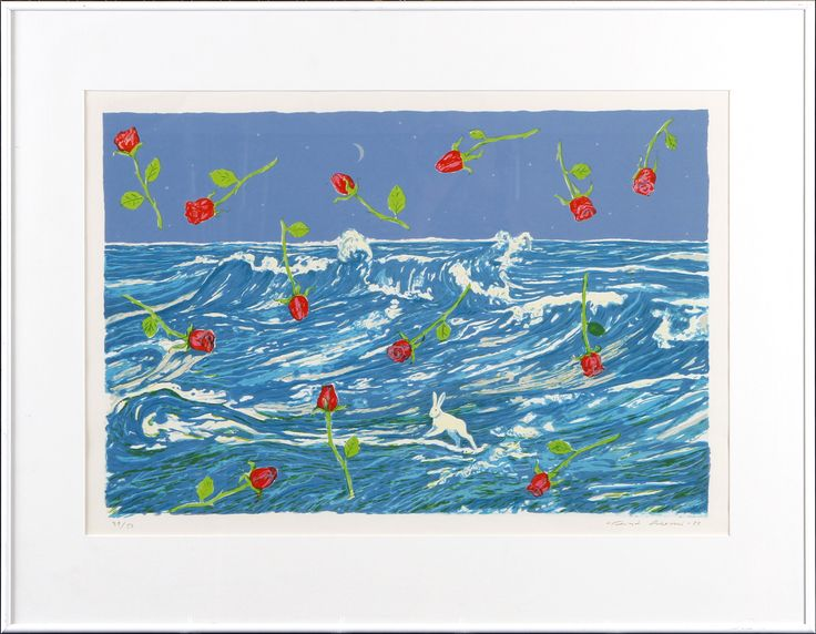 Risto Suomi, 1988, litografia, 42x62 cm, edition 39/50 - Hagelstam A123