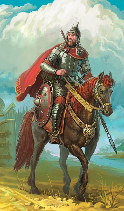 Картинка русский на коне