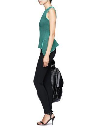 ALEXANDER WANG - Striped stretch knit peplum top   Multi-colour Vests/Tanks Tops   Womenswear   Lane Crawford