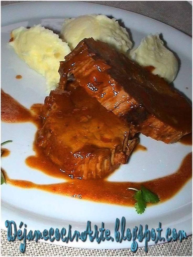 Carne Mechada a la Chilena con Puré