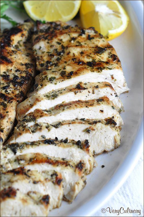 This simple no-fail grilled chicken recipe can be enjoyed with any vegetable for an easy weeknight meal. Use up any left overs in a sandwich the next day!