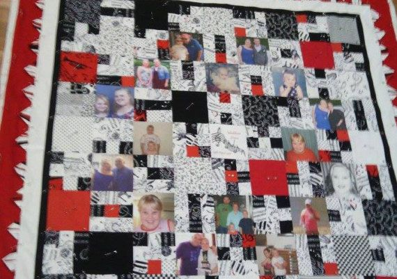 **** Photographic Memory Quilt *** can be made in any size.  Perfect for a Wedding or Engagement Gift, Anniversary Milestone or for Grandma with all her Grandchildren on the quilt. We have placed $500 in the price simply because we have to have a price, You will be provided a written QUOTE, as it will depend on the amount of photos required, the style of quilt and size. Rarely it will be that price.  We understand how important this quilt is, so we endeavour to keep prices as low as…