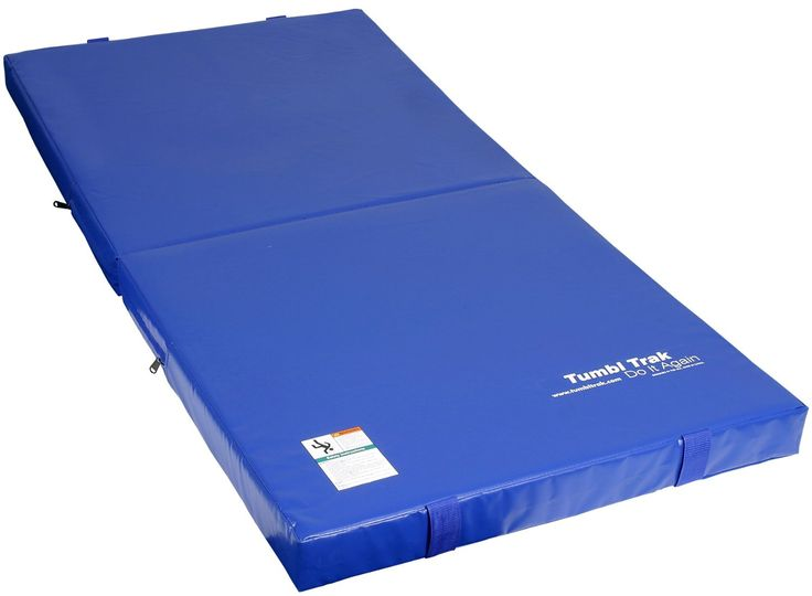 amazoncom tumbl trak junior practice mat royal blue 3feet gymnastics