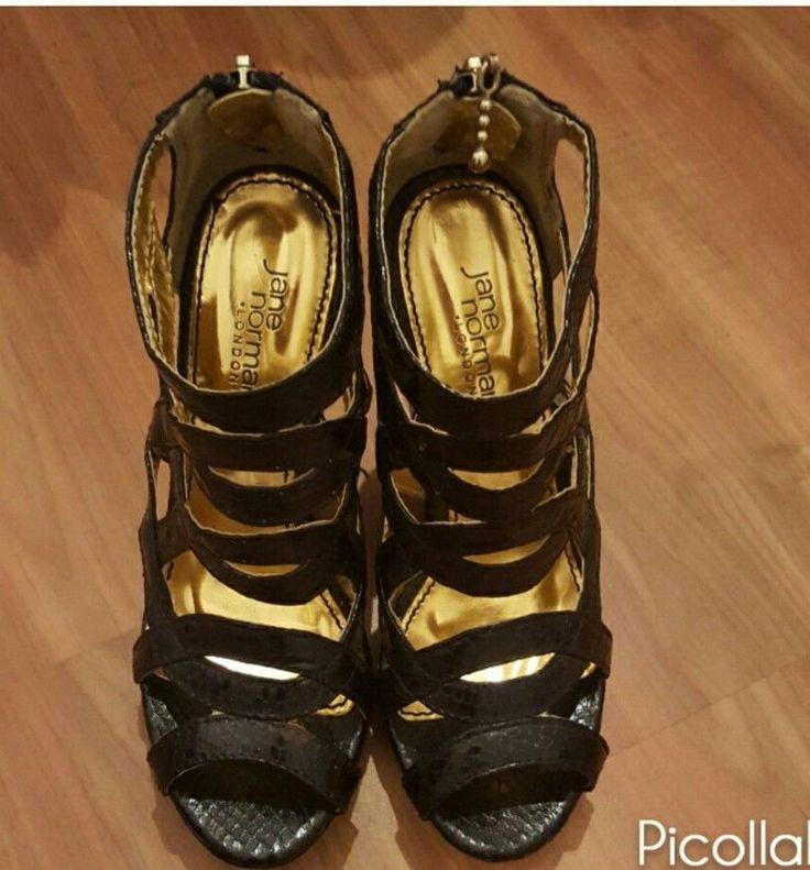 Womens Wedge Shoes UK Size 3 Jane Norman High Black Heels