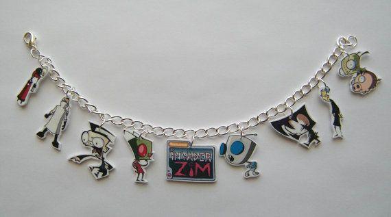 Invader Zim Gir Invaders Zim  Novelty Charm Braclet by Murals4U, $14.99