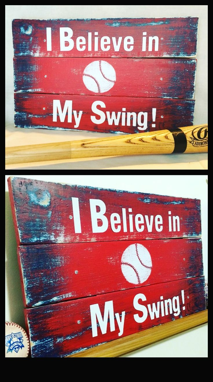 Handmade, unique on of a kind baseball sign is made from reclaimed wood and hand painted. This red and blue inspirational baseball sign is a great gift for your special baseball player. And a stellar wall décor addition to a boys room.