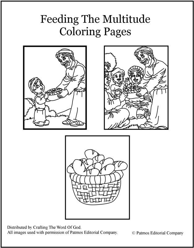 Feeding The Multitude Coloring Pages Are A Great Way To End