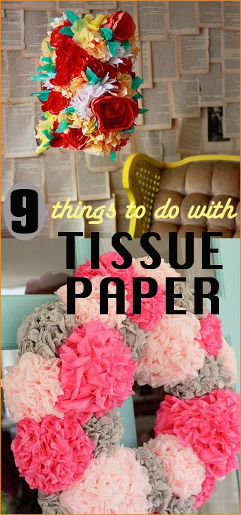 88 best things to do with tissue paper images on pinterest Home decor crafts with paper
