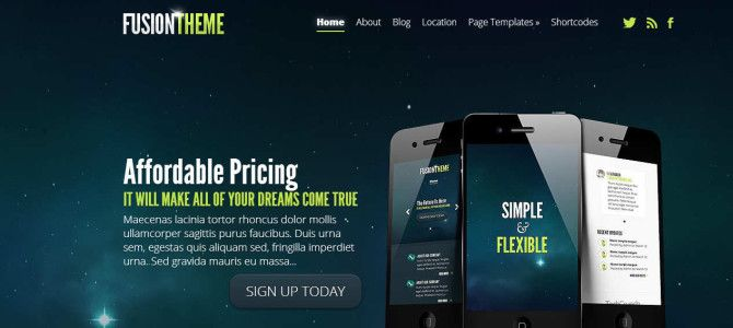 Fusion WordPress Responsive Template