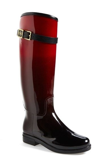 98.95  -  däv 'Bristol' Weatherproof Knee High Rain Boot (Women) at Nordstrom.com. A rounded-toe boot accented with goldtone logo hardware at the belted shaft is upgraded with däv's signature weatherproofing technology—there's no need to sacrifice style just because it's rainy outside. A deep notch at the back calf makes it easy to slip on and the adjustable belt ensures a custom fit.