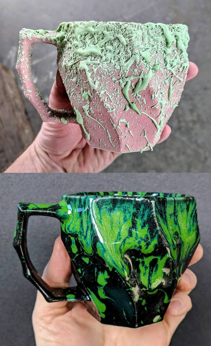 Before and After Firing Hammerly Ceramics